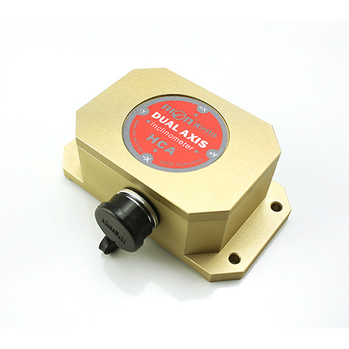 Dual-axis voltage output inclinometer
